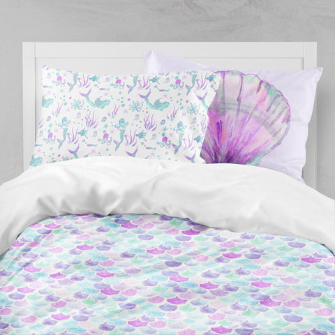 Jeweled Mermaid Big Kid Bedding Set Big Kid Bedding Modified Tot