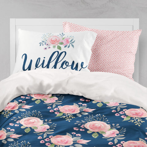 Personalized Wildflower Big Kid Bedding Set Big Kid Bedding Modified Tot