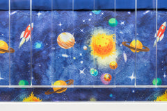 Solar System Crib Bedding (2 Pcs: Sheet, Skirt) Crib Bedding Modified Tot