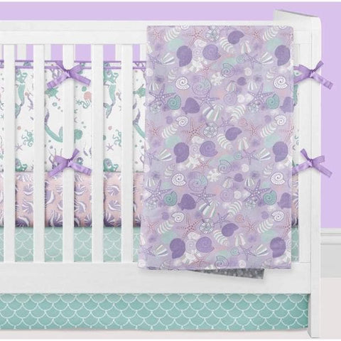 Swimming Mermaids Crib Bedding with Bumpers Crib Bedding Modified Tot