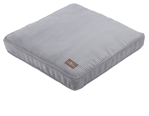 Dove Grey Corduroy Pillow Bed