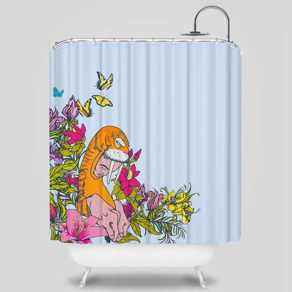 MWW - Wyger Shower Curtain by Sam Flores