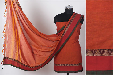 Dharwad Handloom Cotton 3-piece Suit Material Set