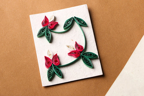 Paper Quilling Handmade Gift Tag