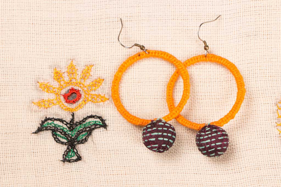 Big Round Boria Earring by Jugaad