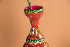 Handpainted Wooden Flower Pot from Banaras