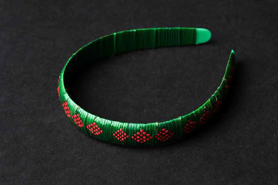 Hand Braided Natural Sikki Grass Hair Band