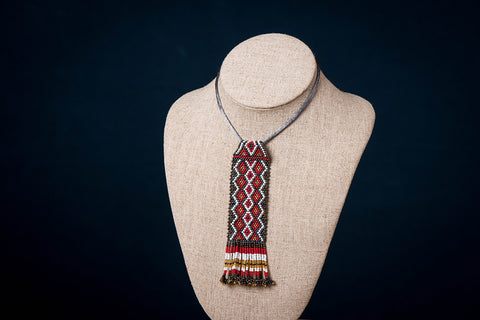Neemuch Handmade Beadwork Necklace by Pushpa Harit