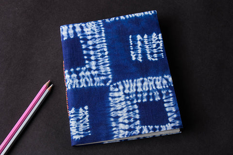 Shibori Cover Handmade Ruled Paper Notebook 9in x 7in