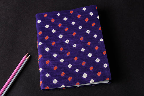 Bandhani Cover Handmade Ruled Paper Notebook 9in x 7in