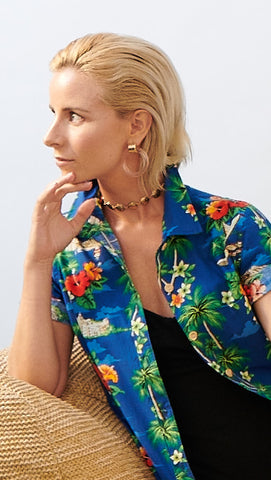 WAIKIKI LADIES ALOHA SHIRT