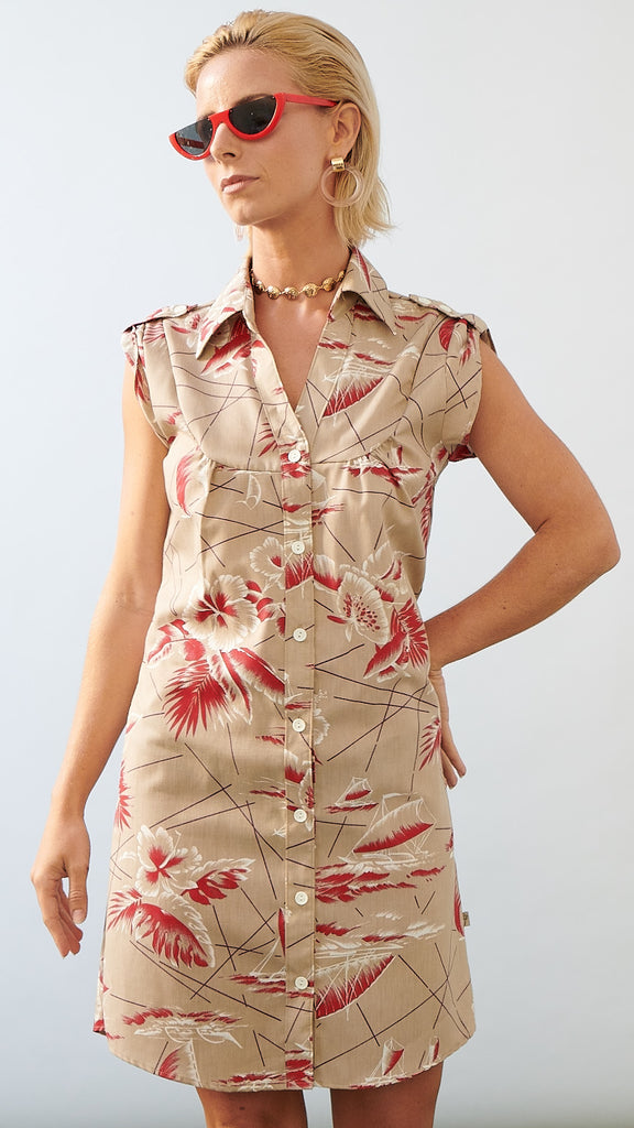 SHIRT DRESS - SOUTH SEAS TAN