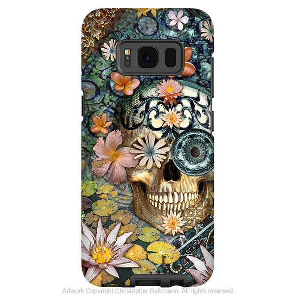 Floral Sugar Skull - Artistic Samsung Galaxy S8 Tough Case - Dual Layer Protection - bali botaniskull - Fusion Idol Arts