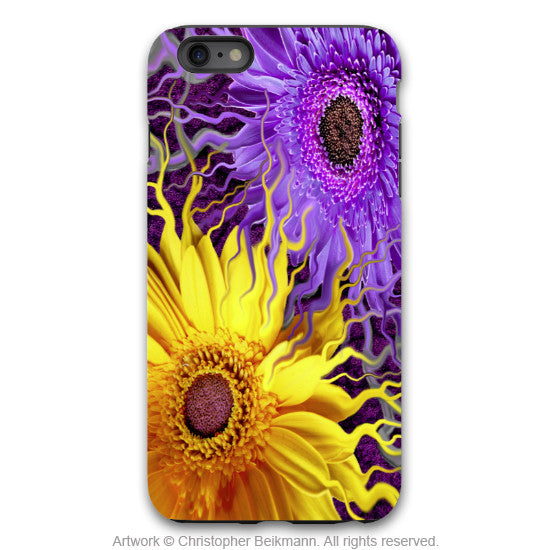 Purple and Yellow Daisy iPhone 6 6s Plus TOUGH Case - Daisy Yin Daisy Yang - Gerbera Daisy Floral Art Case for iPhone 6 6s Plus - iPhone 6 6s Plus Tough Case - 1