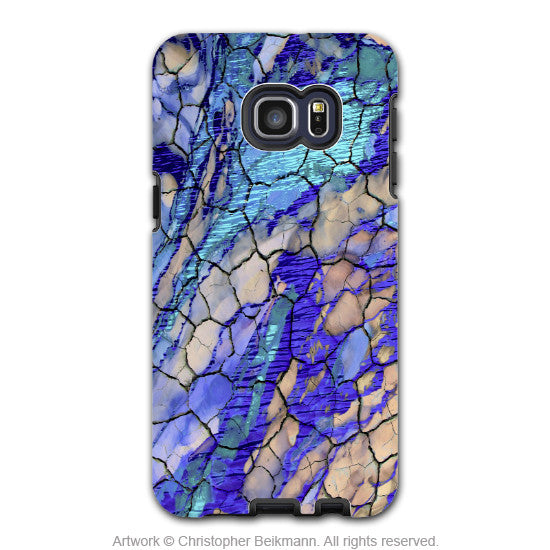Blue Desert Abstract - Artistic Galaxy S6 EDGE+ TOUGH Case - Dual Layer Protection - Desert Memories