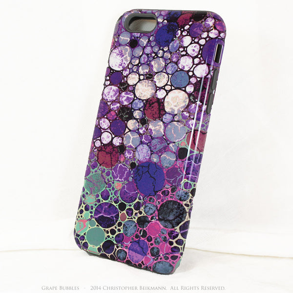 "Purple Abstract iPhone 6 6s Plus TOUGH Case - ""Grape Bubbles"" Artistic Case for iPhone 6 6s Plus - iPhone 6 6s Plus Tough Case - 2"