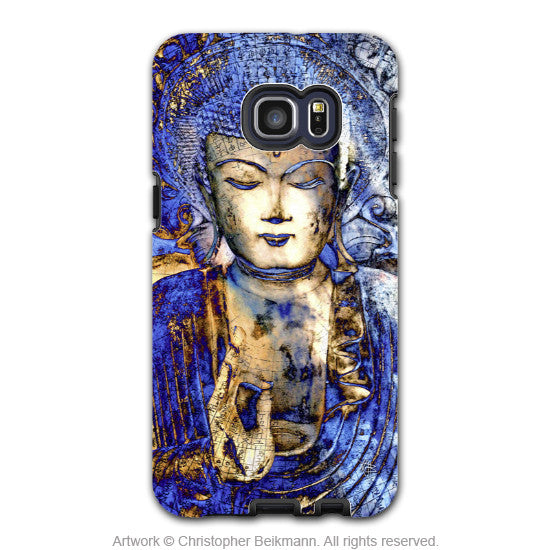 Blue Buddha Art - Artistic Galaxy S6 EDGE+ TOUGH Case - Dual Layer Protection - Inner Guidance