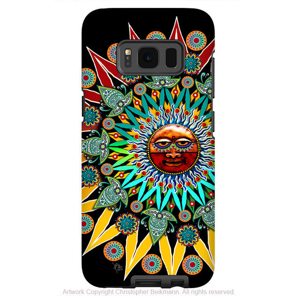 Tribal Aztec Sun - Artistic Samsung Galaxy S8 Tough Case - Dual Layer Protection - sun shaman - Fusion Idol Arts