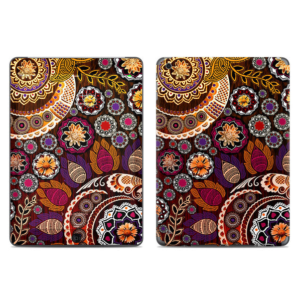 Autumn Mehndi - Fall Color Paisley Floral - iPad AIR Vinyl Skin Decal - iPad AIR 1 - SKIN - 1