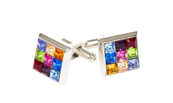 Rio Multi Crystal Cufflinks