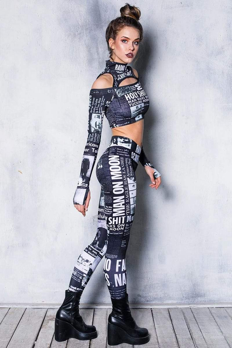 black-newspaper-leggings