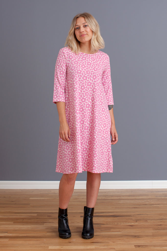Women's Helsinki Dress - Marrakesh Floral Dusty Rose