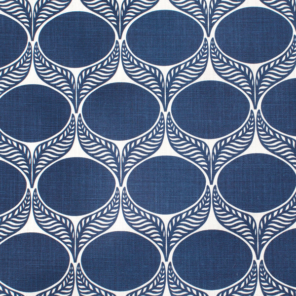 Belgian Linen - June Leaf Navy