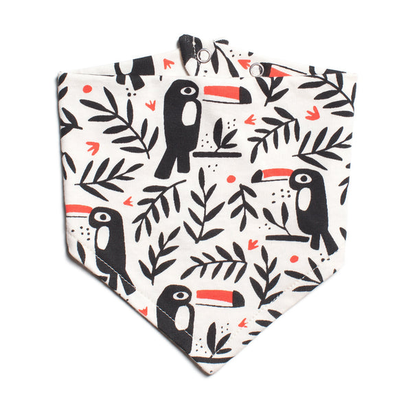 Kerchief Bib - Toucans Black