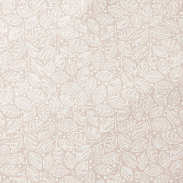 Belgian Linen - Leaves & Berries Taupe