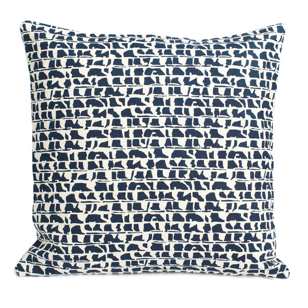 Belgian Linen Pillow Case - Corrugated Navy