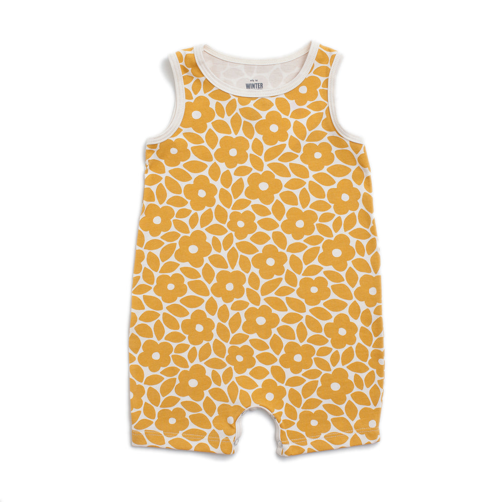 Tank-Top Romper - Marrakesh Floral Yellow