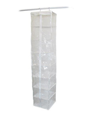 Whitmor Clear 8-Compartment Hanging Clothes Bag