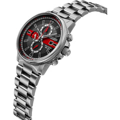 Citizen Men's Thin Red Line Watch Chronograph 200M WR Eco Drive CA0299-57E