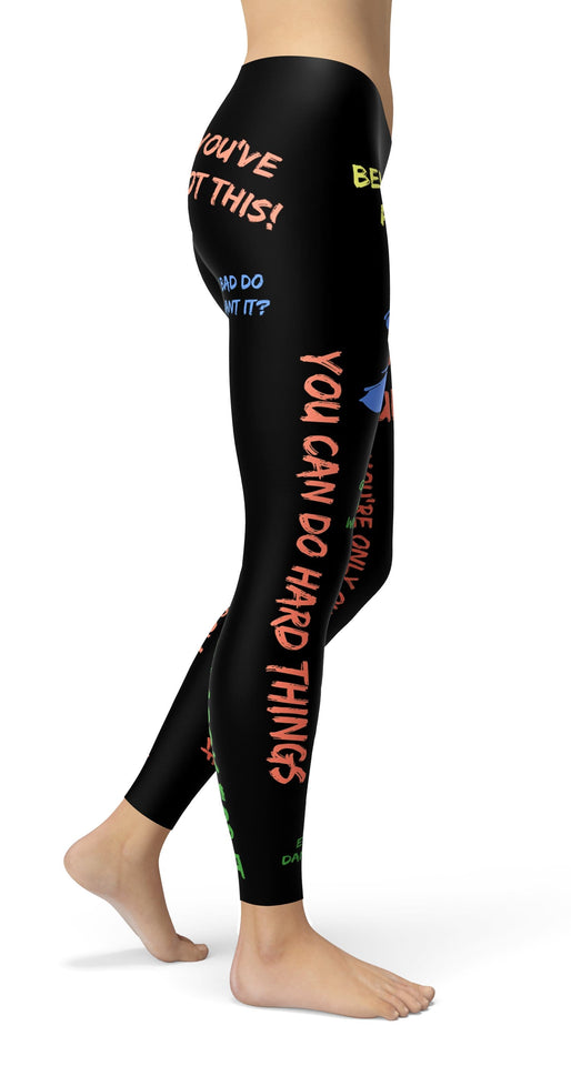 Autumn Motivational Color Leggings - US FITGIRLS