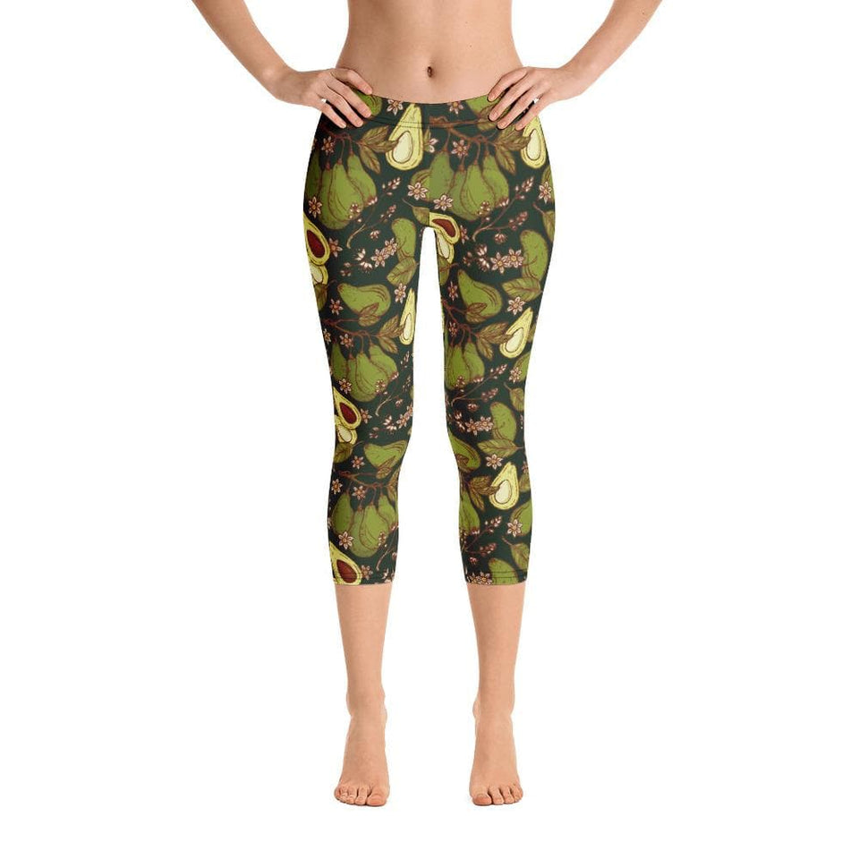 Avocado Capri Leggings - US FITGIRLS