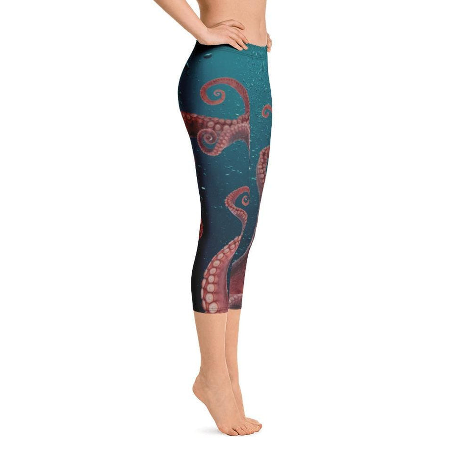 OCTOPUS TENTACLES Capri Leggings - US FITGIRLS