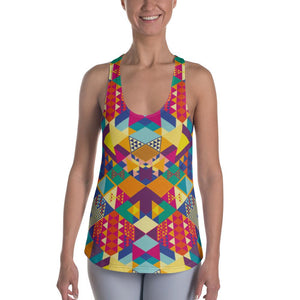 geometric colors Racerback Tank - US FITGIRLS