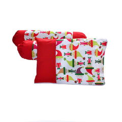 Santa's Elves Pillow & Bolster Case Set
