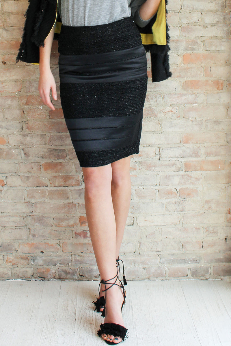 Elsie Pencil Skirt - Black - Glamour and Glow  - 1