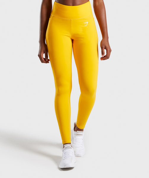Gymshark Dreamy Leggings 2.0 - Citrus Yellow 4