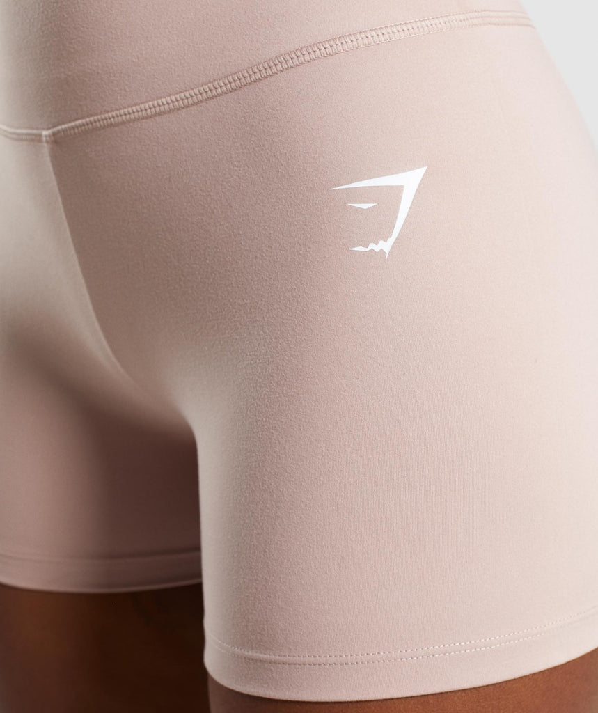 Gymshark Dreamy High Waisted Shorts  - Taupe 5
