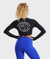Gymshark Legacy Fitness Long Sleeve Crop Top - Black 8