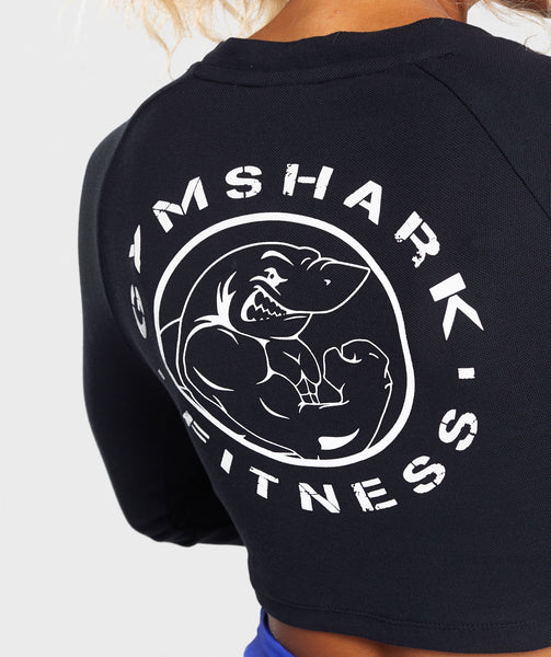 Gymshark Legacy Fitness Long Sleeve Crop Top - Black 4
