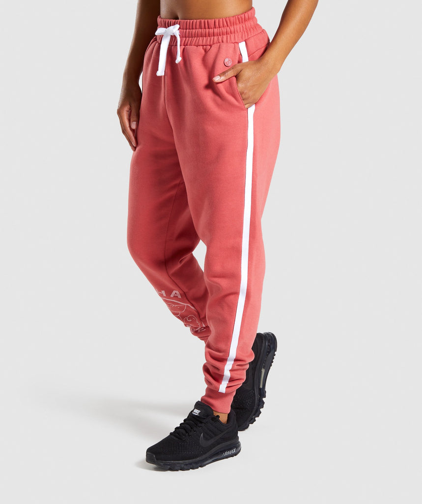 Gymshark Legacy Fitness Joggers - Brick Red 1