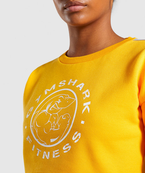 Gymshark Legacy Fitness Sweater - Yellow 4