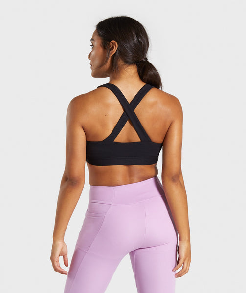 Gymshark Poise Sports Bra - Black 1