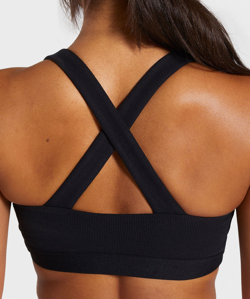 Gymshark Poise Sports Bra - Black 6