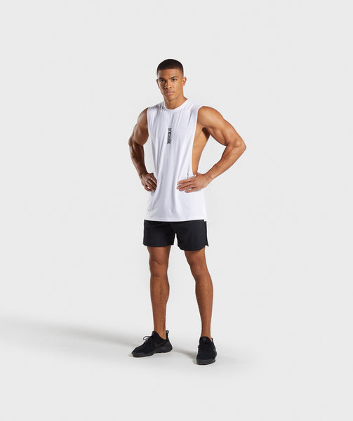 Gymshark Shadow Drop Armhole Tank - White 3