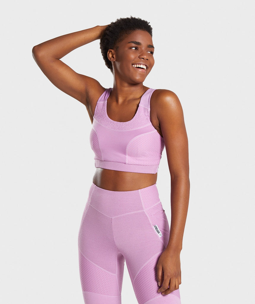 Gymshark True Texture Sports Bra - Pink 1