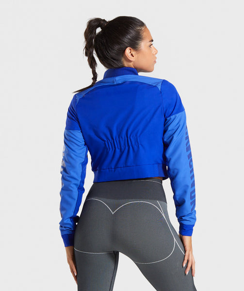 Gymshark Turbo Track Jacket - Cobalt Blue 1